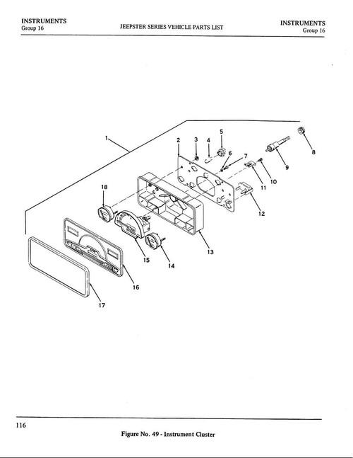 Bezel, instrument cluster