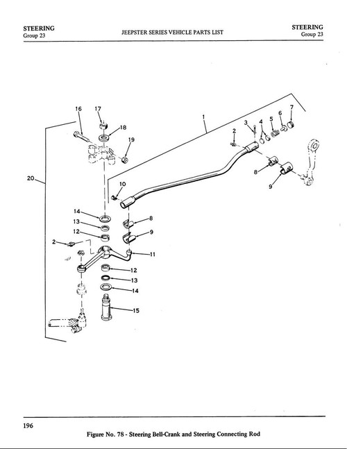 """Bell crank repair kit (1 1/8"""")"""