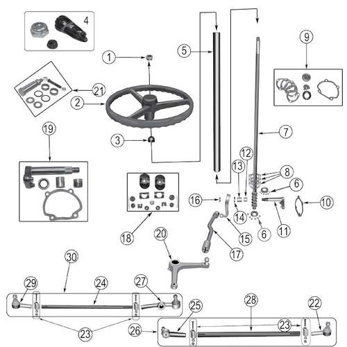 """Bell crank repair kit (3/4"""")"""
