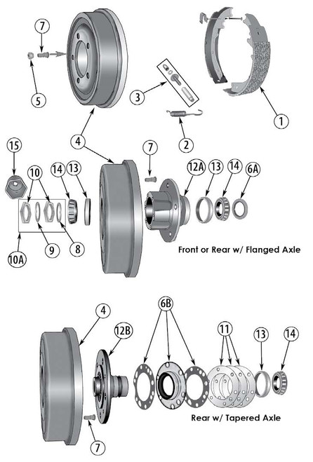 Wheel Bearing Set Drum Brake/Front Kit