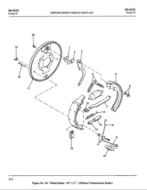"Drum brake kit 10"" rear Wagner kit"