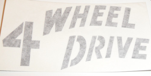 4 Wheel Drive decal