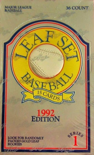 1992 Leaf Baseball Series 1 Unopened Box