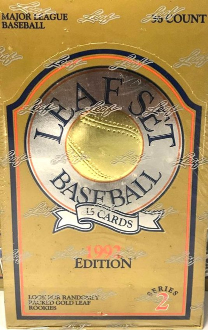1992 Leaf Baseball Series 2 Unopened Box