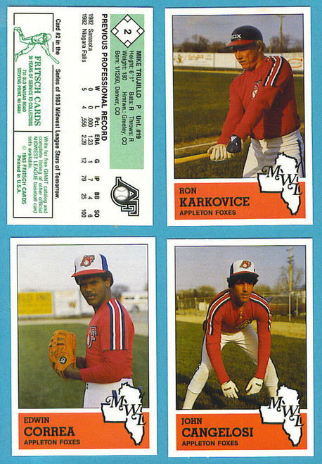 1983 Fritsch Midwest League Appleton Foxes Team Set
