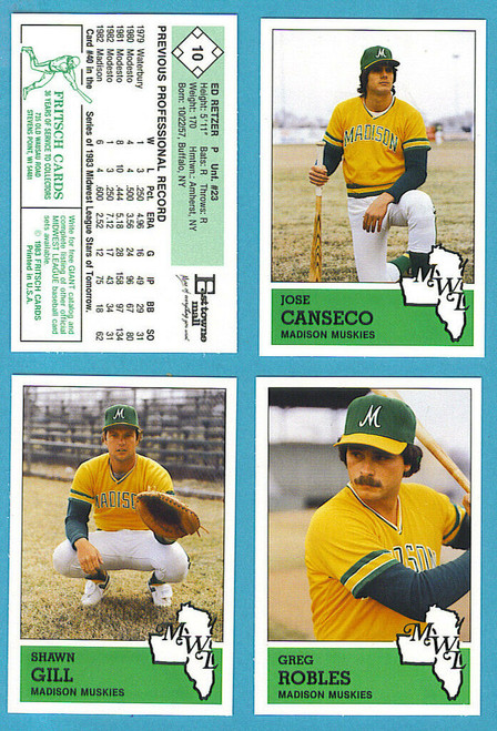 1983 Fritsch Midwest League Madison Muskies Team Set