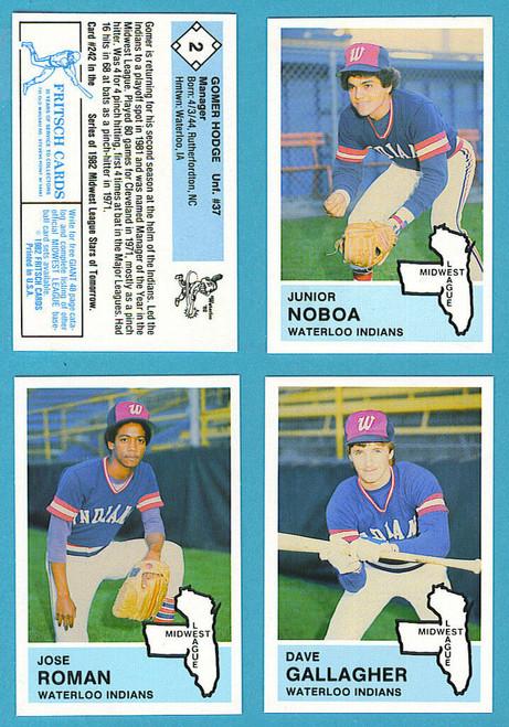 1982 Fritsch Midwest League Waterloo Indians Team Set