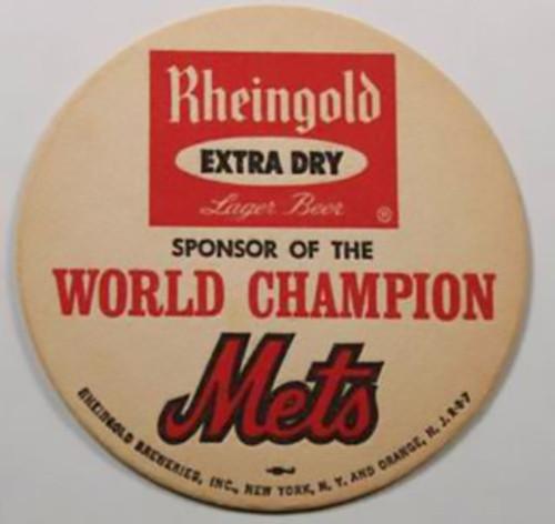 1969 Rheingold Mets Coaster