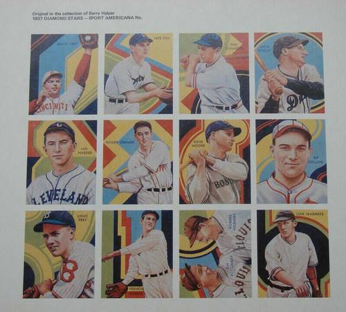1937 Diamond Stars Extension Uncut Sheet