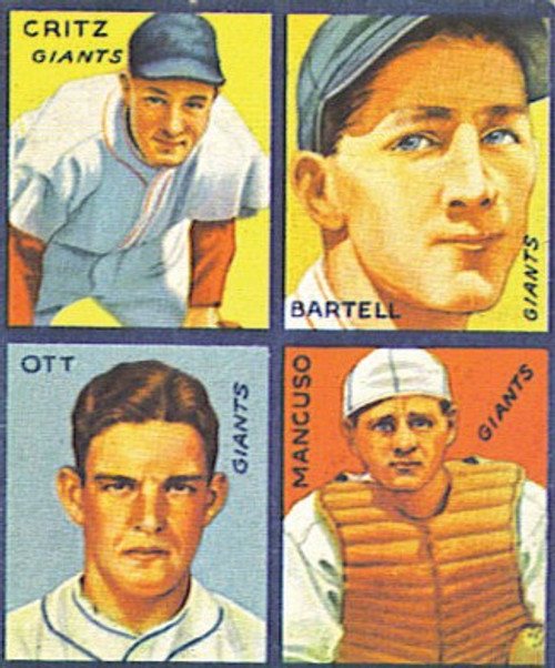 1935 Goudey 4-in-1 Reprint Set