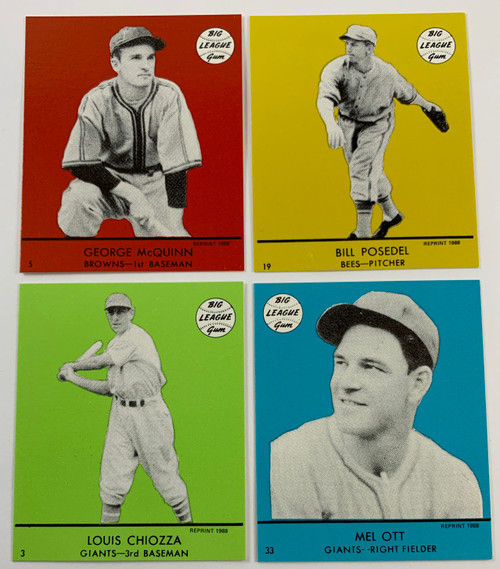 1941 Goudey Reprint All Color Sets