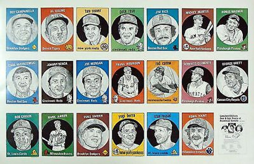 1983 O'Connell & Son Ink Baseball Greats Uncut Sheet