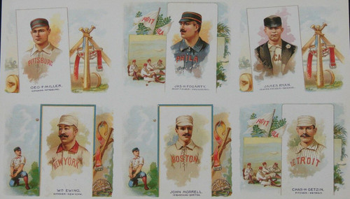 1888 N43 Allen & Ginter Large Card Uncut Sheet