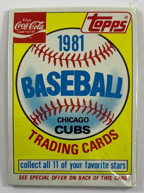 1981 Coca-Cola Cubs Pack