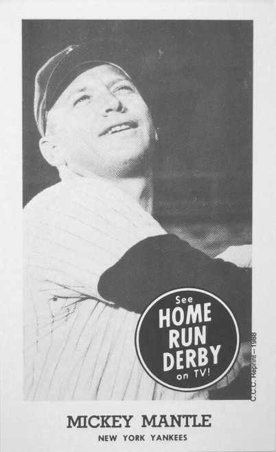 1959 Home Run Derby Mickey Mantle Single