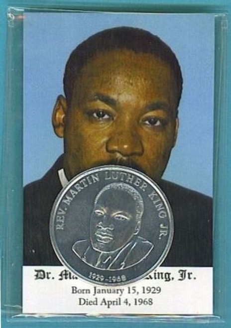 Dr. Martin Luther King Jr Card and Coin