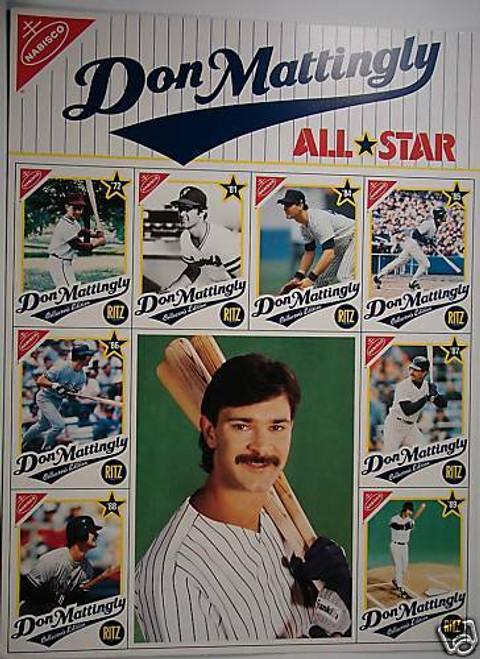 1989 Nabisco Don Matingly Uncut Sheet
