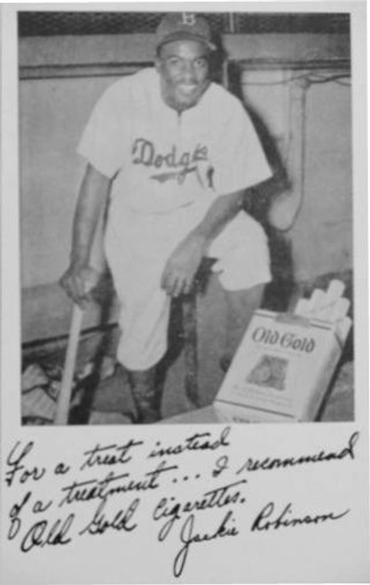 1940s Jackie Robinson Old Gold Cigarettes Reprint