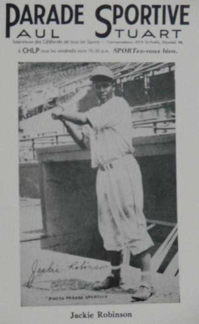 1946 Parade Sportive Jackie Robinson Reprint