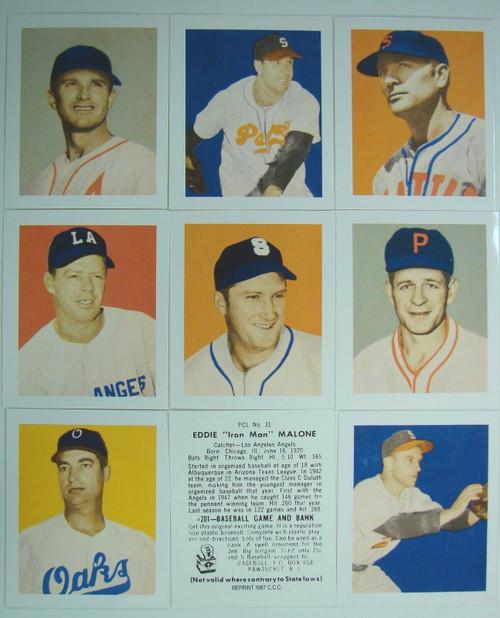 1949 Bowman Pacific Coast League