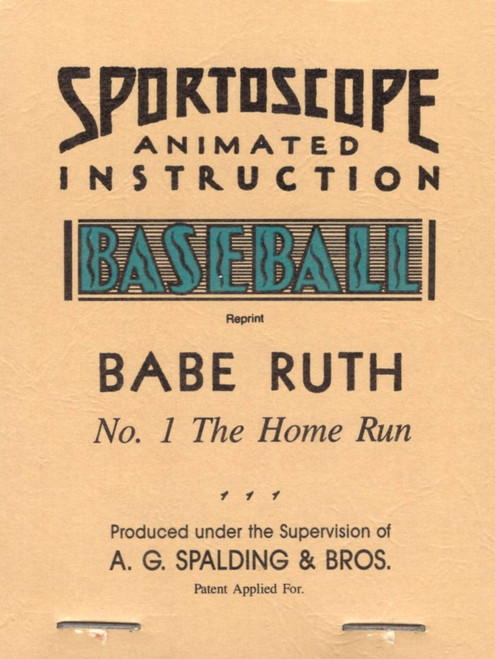 1931 Babe Ruth Flip Book Reprint