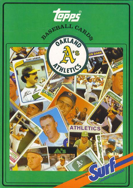 1987 Topps Surf Book Oakland Athletics