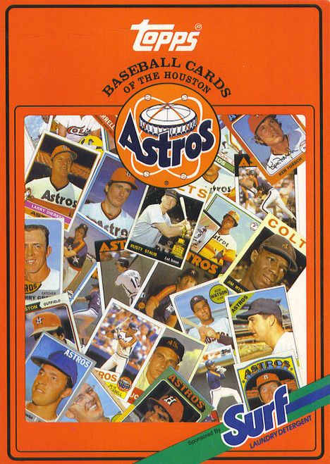 1987 Topps Surf Book Houston Astros