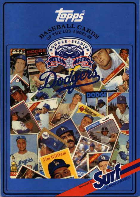 1987 Topps Surf Book Los Angeles Dodgers