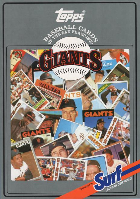 1987 Topps Surf Book San Francisco Giants