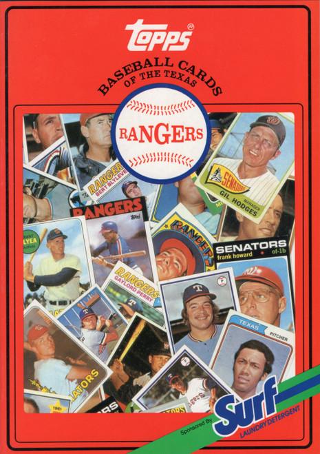 1987 Topps Surf Book Texas Rangers