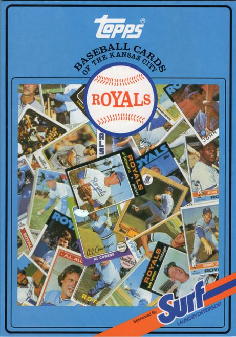 1987 Topps Surf Book Kansas City Royals