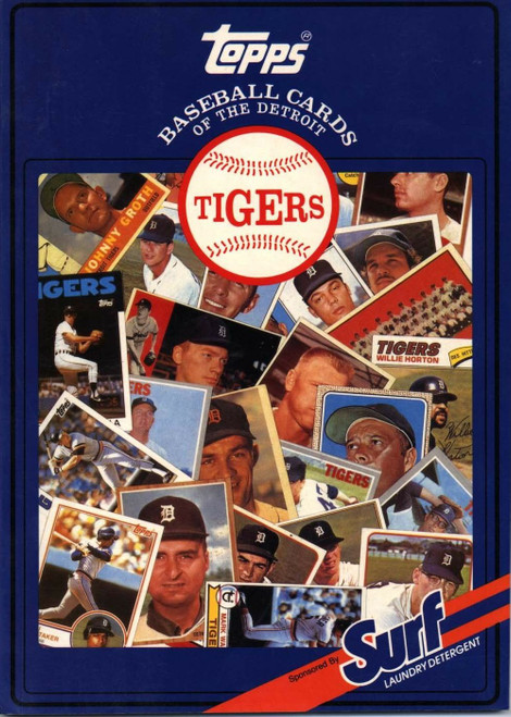 1987 Topps Surf Book Detroit Tigers