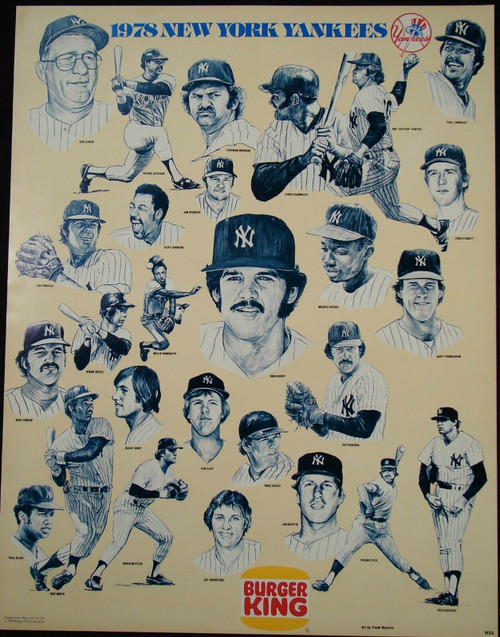 1978 Burger King New York Yankees Poster