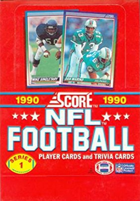 1990 Score Football Series #1 Unopened box