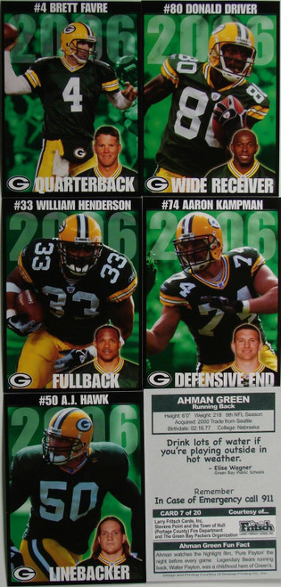 2006 Green Bay Packers Police Set