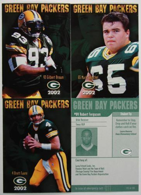 2002 Green Bay Packers Police Set
