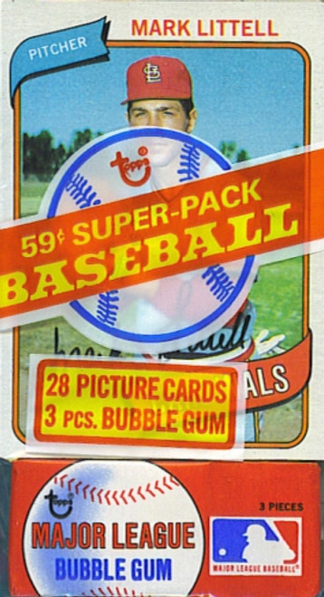 1980 Topps Baseball Super Cello Pack