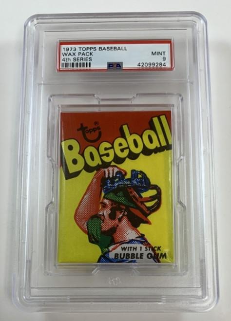 1973 Topps Baseball Wax Pack 4th Series Catcher PSA 9 Mint
