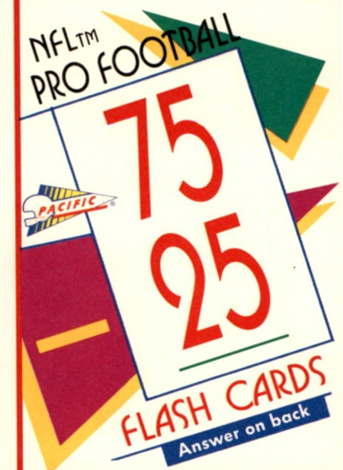 1991 Pacific Football Flash Cards Unopened Box