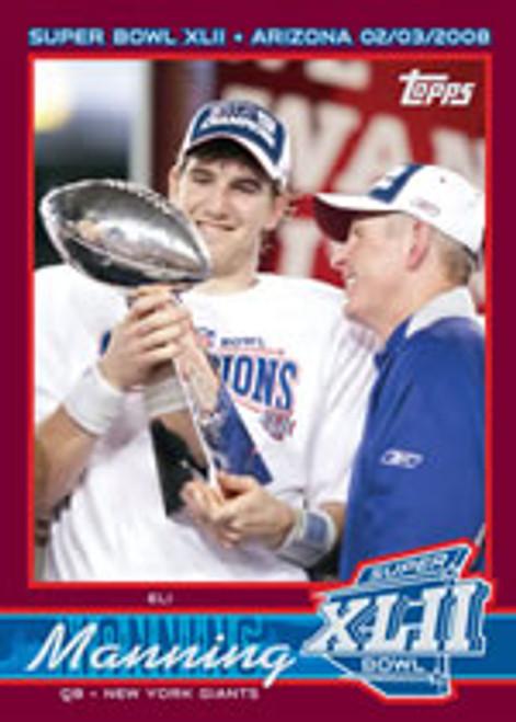 Topps Super Bowl XLII New York Giants Set (2007 Season)