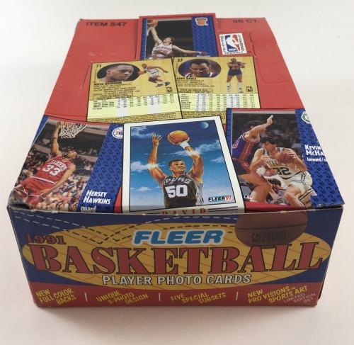 1991-92 Fleer Basketball Series #1 Wax Box