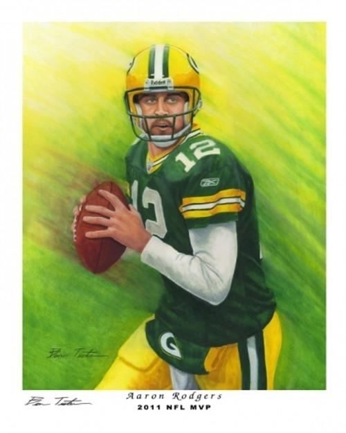 2011 Aaron Rodgers 8 x 10 Art Print (NFL MVP)