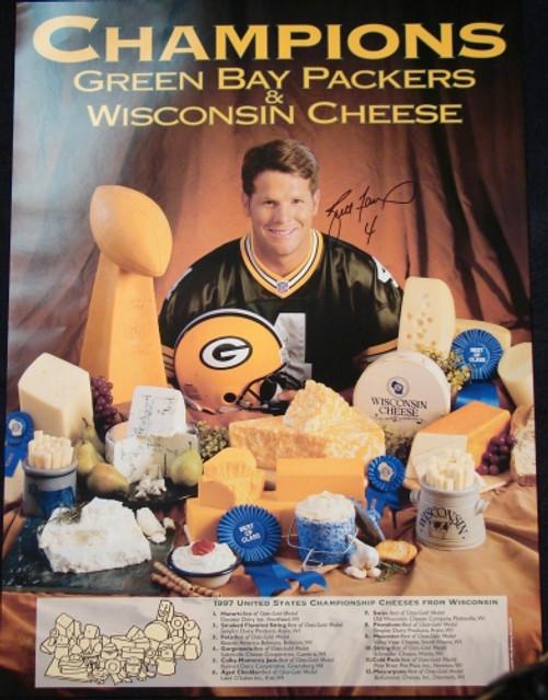 Brett Favre Wisconsin Cheese Poster