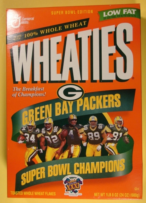 Green Bay Packers Super Bowl XXXI Wheaties Box
