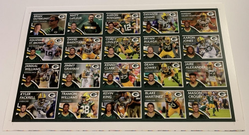 2019 Green Bay Packers Police Uncut Sheet