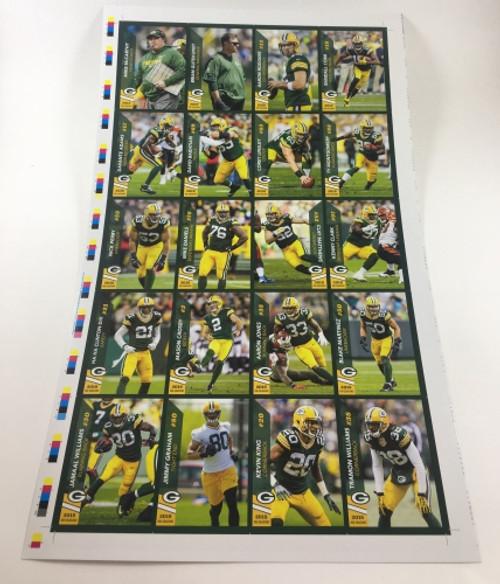2018 Green Bay Packers Police Uncut Sheet