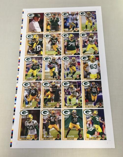 2017 Green Bay Packers Police Uncut Sheet