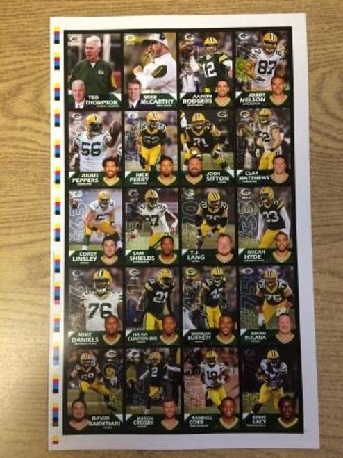 2016 Green Bay Packers Police Uncut Sheet