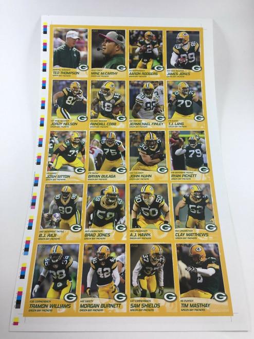 2013 Green Bay Packers Police Uncut Sheet