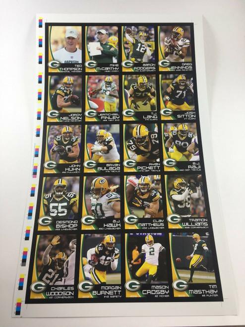 2012 Green Bay Packers Police Uncut Sheet